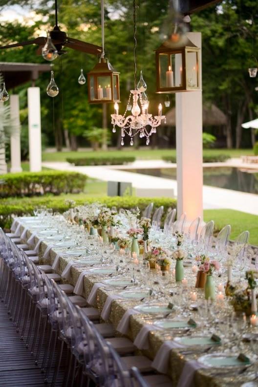una boda para soñar con toques verde y dorado