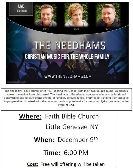 12-9 The Needhams Christian Music