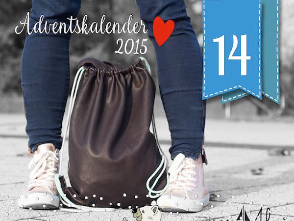 Adventskalender Türchen Nr. 14 -  Nähanleitung von Annelie / von Ahoi - Turnbeutel sind total IN !