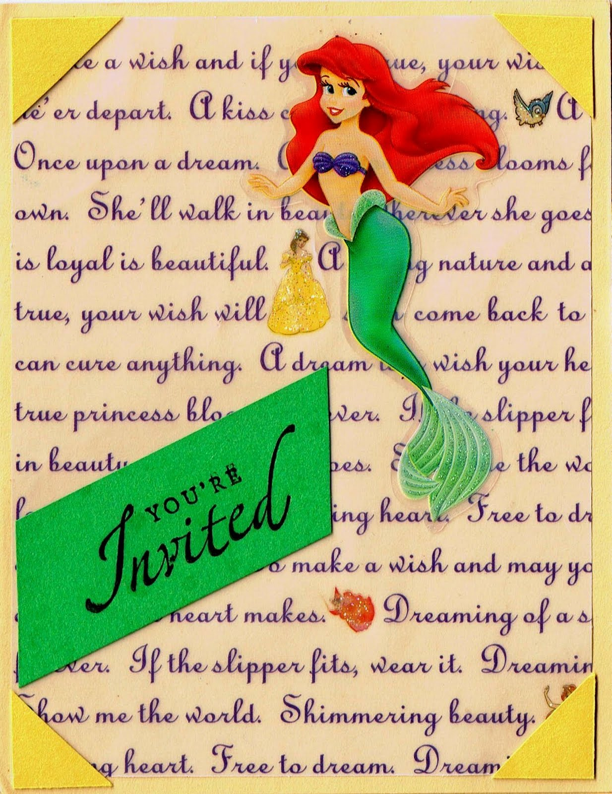Little Mermaid Handmade Invitations was luxury invitation template