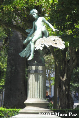 angel sculpture in Porto garden