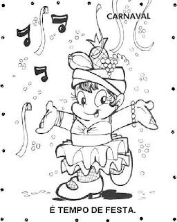 Desenho de baiana para colorir, baianas para pintar - desenhos de carnaval
