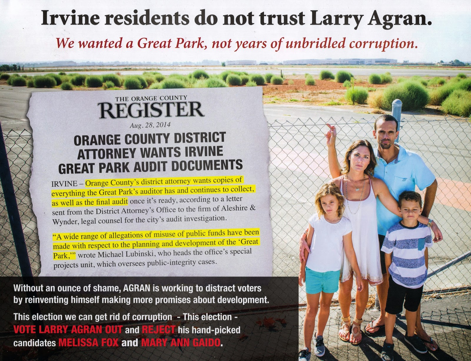 Steve greenberg irvine audit -  Irvine Community News And Views Three Pieces From The Anti Agran Ie And Two New Pieces Today One From Each Side I Have Scanned A Copy Of All Of