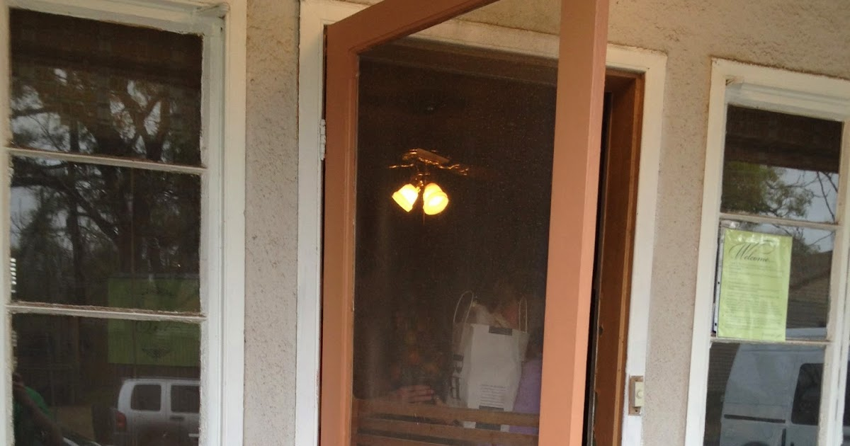 Mad For Mid Century Brown Vintage Screen Door On A Mid