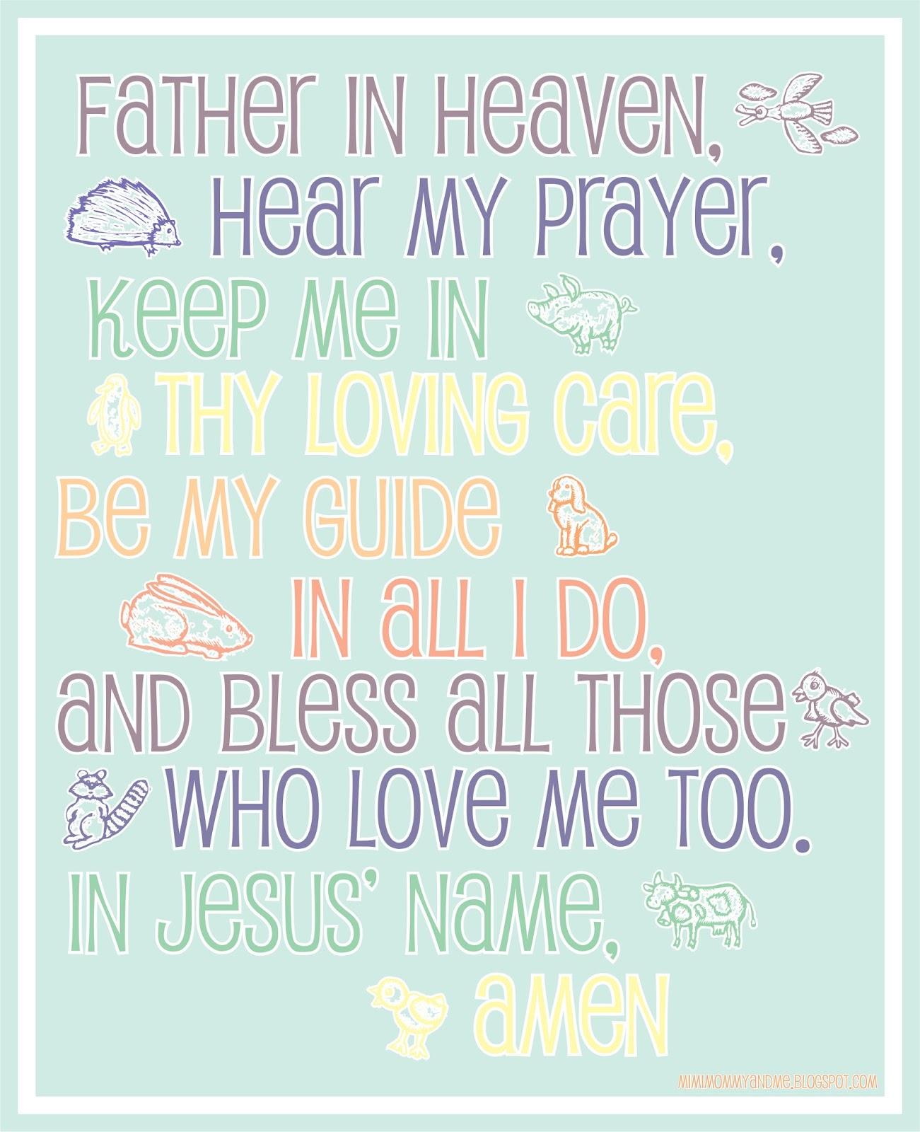 A Child's Prayer - Free Printable