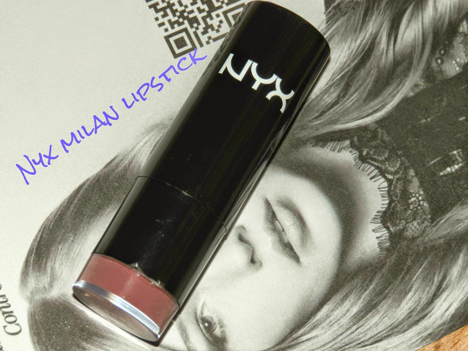 NYX Round Lipstick Milan Swatches
