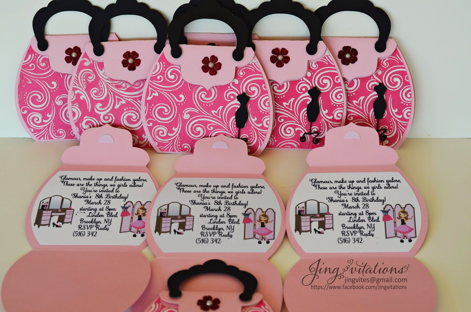Birthday and Baby Shower Invitations: Fashion Party Invitations