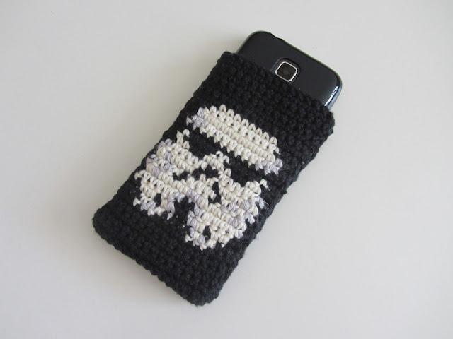 Häkelblog, Tapestry, Häkeln, Star Wars Crochet, Handyhülle, Sturmtruppler
