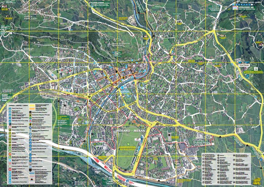 Meran Stadtplan