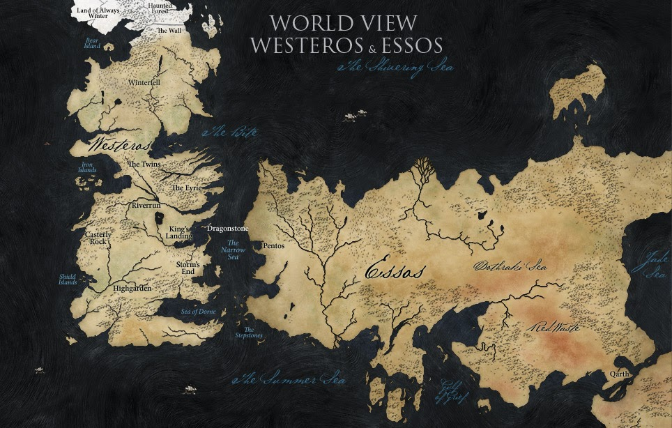 The Wertzone: HBO releases extended GoT world map