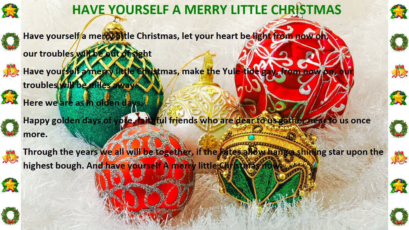 O Christmas tree - Christmas lyrics songs decoration ideas: Christmas lyric slides