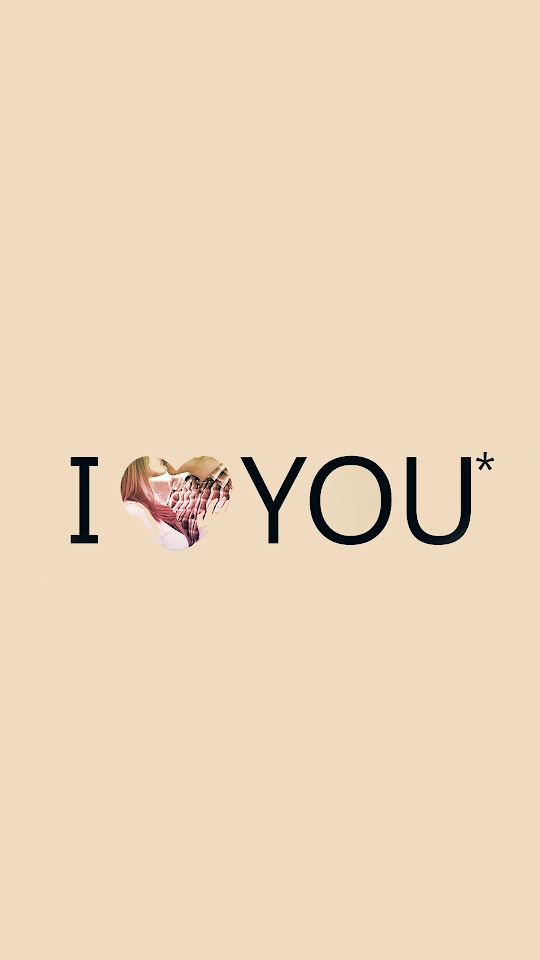 I Love You Typography Pink Heart  Galaxy Note HD Wallpaper