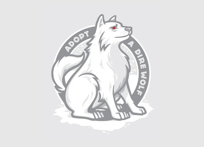 "Threadless Game of Thrones T-Shirt ""Adopt A Dire Wolf"""