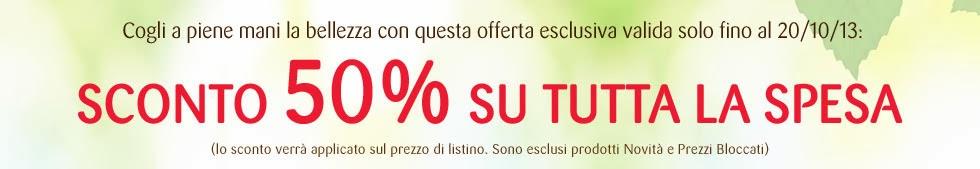 Bottega Verde - Sconto 50% su tutta la spesa