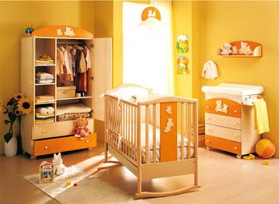 Dormitorio amarillo para beb ideas para decorar dormitorios - Dormitorios para bebe ...