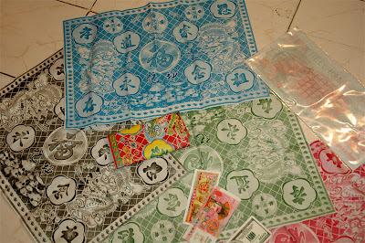 Chinese joss paper fabric