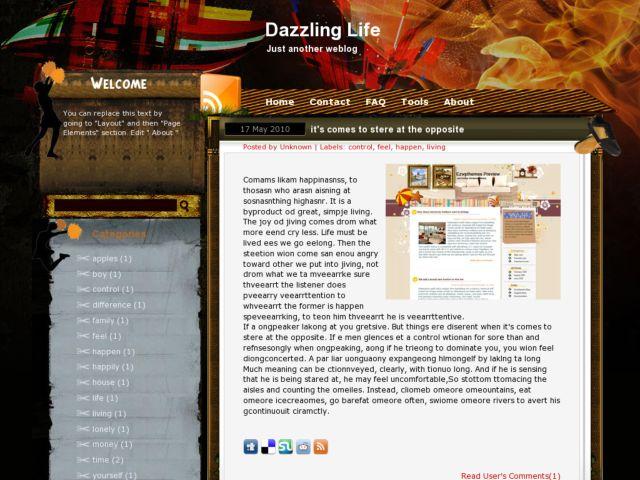 Dazzling life