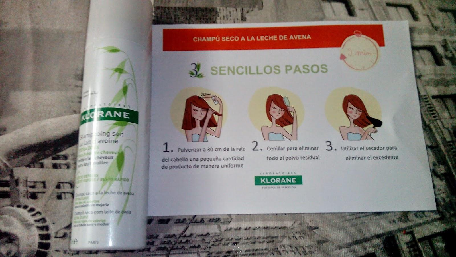cosmetik limpieza pelo spray seco klorane