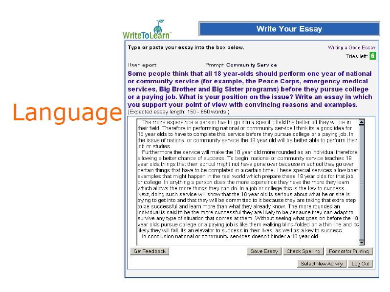 Example of essay on service