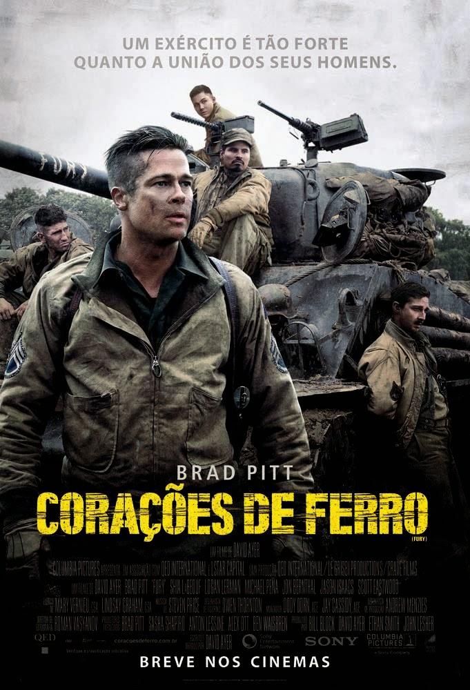 Pôster/capa/cartaz nacional de CORAÇÕES DE FERRO (Fury)