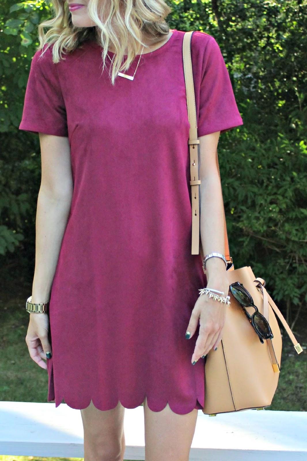 lulu's scallop edge dress