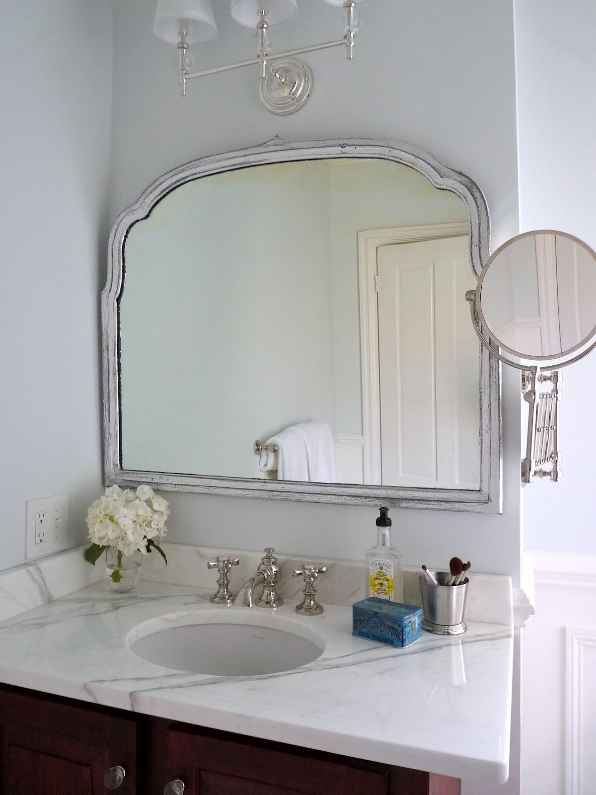 hazardous design guest bath reveal. Black Bedroom Furniture Sets. Home Design Ideas