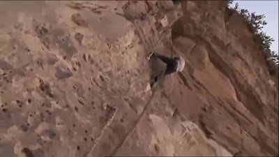 Debre Damo cliff with goat rope