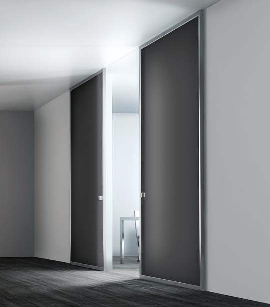 Modern-interior-glass-doors-commercial-with-stainless-steel-frame