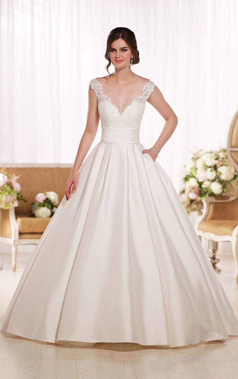In This Article We Will Share You About The Design Of Ball Gown Dress Look Picture That Have Wedding Is Designed With Strapless Style