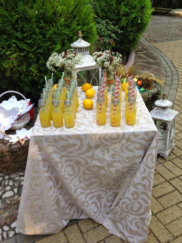 limonada; boda; bienvenida