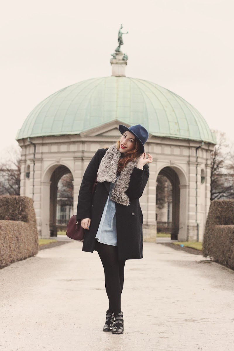 how to style a smock dress in winter