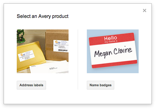 how to make name tags in google docs