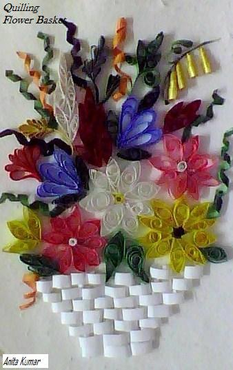 Craft world paper quilling this flower basket has been made with handcut paper strips and is one of my earliest projectsits very close to my heart mightylinksfo
