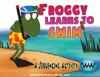 http://www.teacherspayteachers.com/Product/Froggy-Learns-to-Swim-Sequencing-Activity-1258934