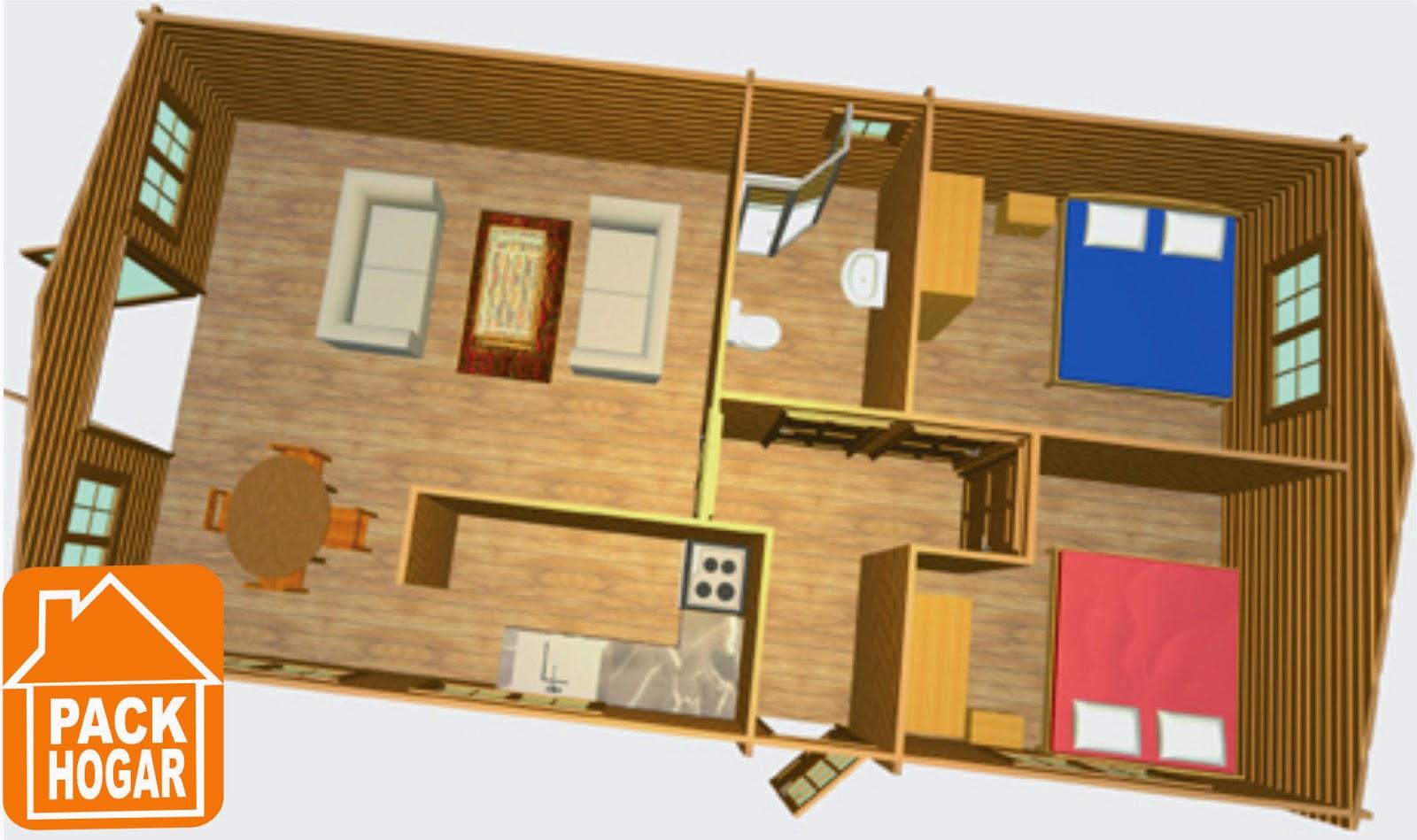 Casas prefabricadas planos de casas prefabricadas para for Casas de campo prefabricadas