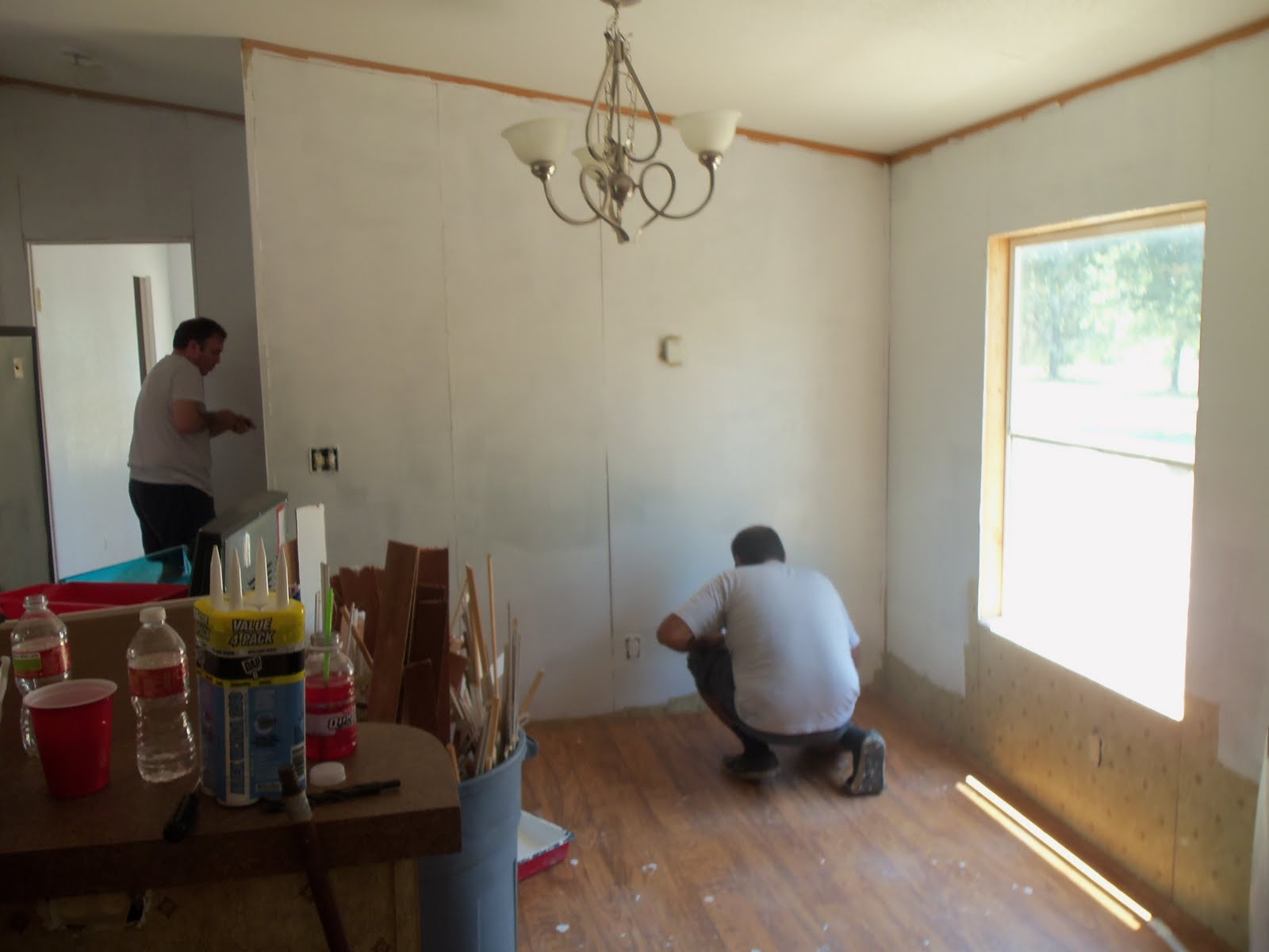 Mobile home makeover Mobile home interior walls