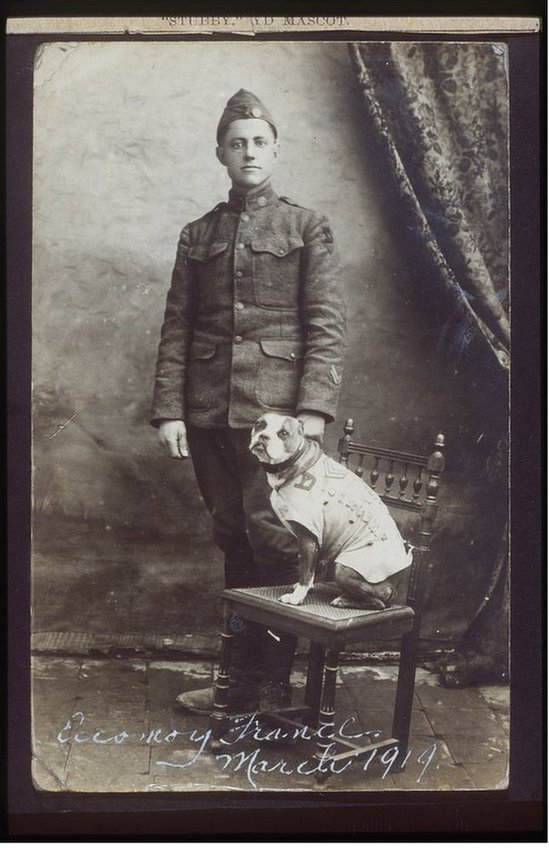 Corporal Robert Conroy and Sergeant Stubby