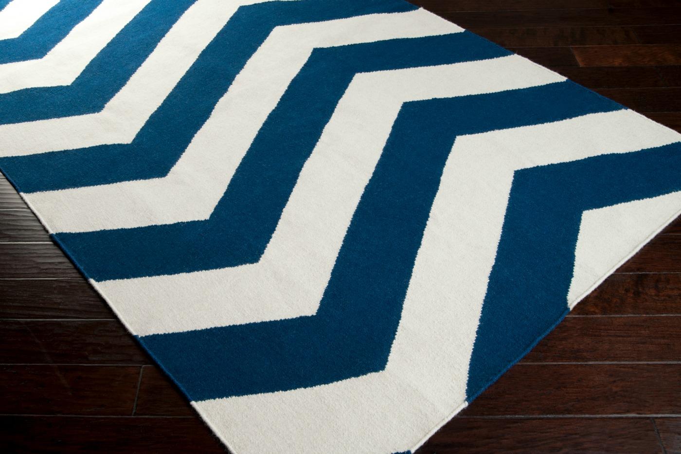 navy and white striped rug runner