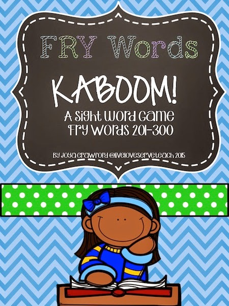 https://www.teacherspayteachers.com/Product/FRY-Words-201-300-KABOOM-Game-833480