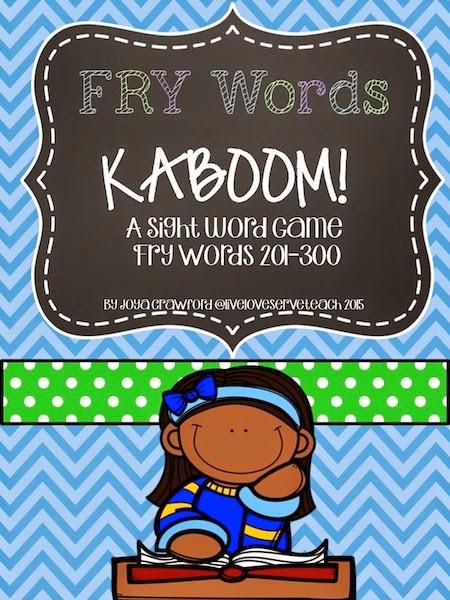 https://www.teacherspayteachers.com/Product/FRY-Words-201-300-KABOOM-Game-833480