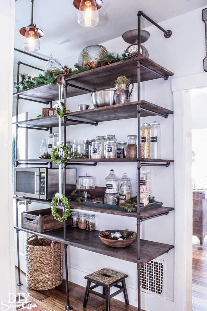 Blomma london kitchen storage open shelving for Off the shelf kitchen units