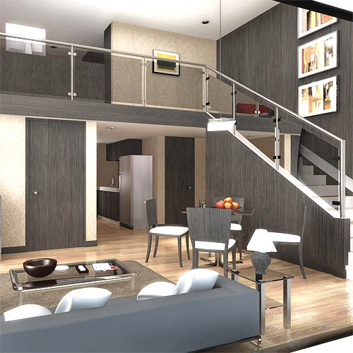 La casa in vetrina loft stile contemporaneo for 4 bedroom house with loft