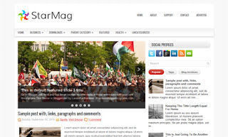 StarMag Blogger Template