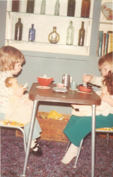 Tea with my older sister 1976