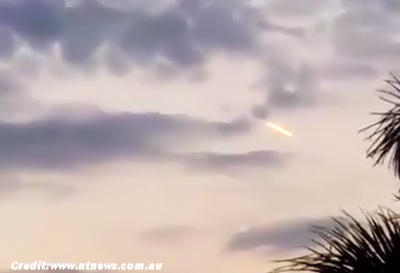UFO Spotted Over Darwin 9-28-15
