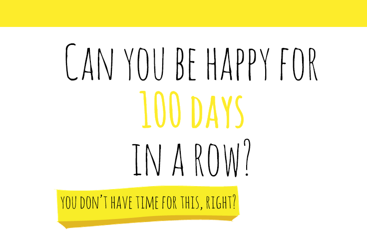 Image of 100 happy days website home page