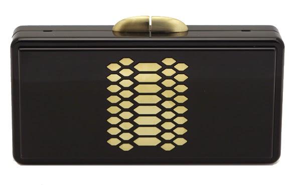 Ciara Plexiglass Clutch in Gold