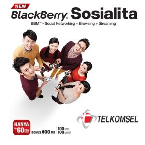 Paket Promo BlackBerry New Sosialita Telkomsel