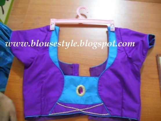 PURPLE COLOUR DESIGNER BLOUSE