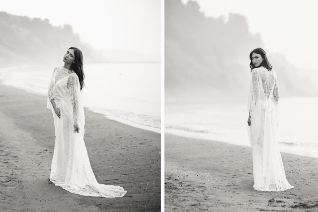 Boho lace wedding gown by And For Love